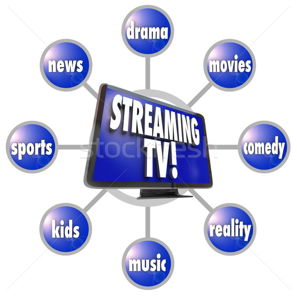 In streaming tv contenuti intrattenimento film sport Foto d'archivio © iqoncept