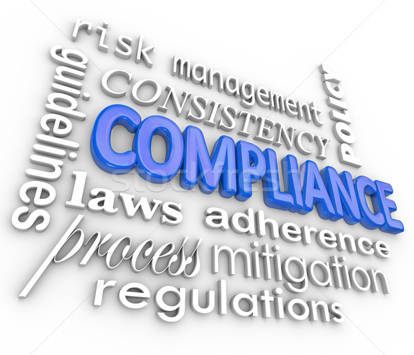 Compliance Word Background Legal Regulations Adherence Stock photo © iqoncept