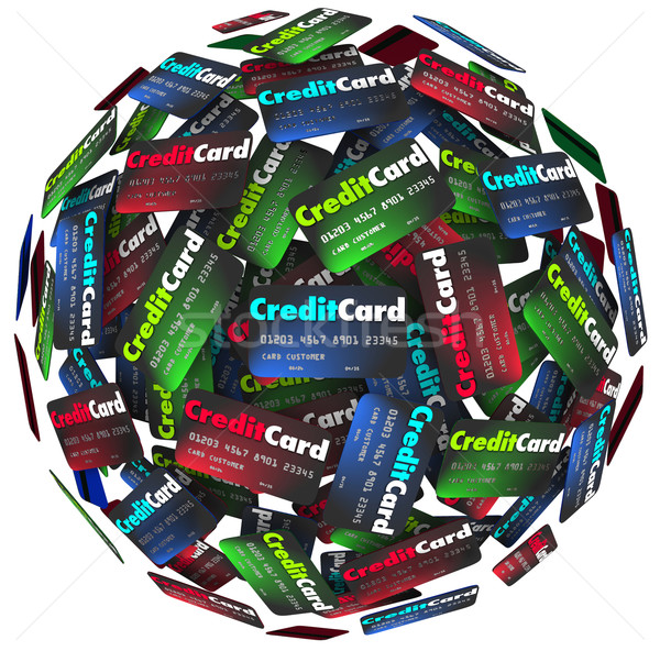 Credit Card Sphere Borrow Money Pay Loan Stock photo © iqoncept