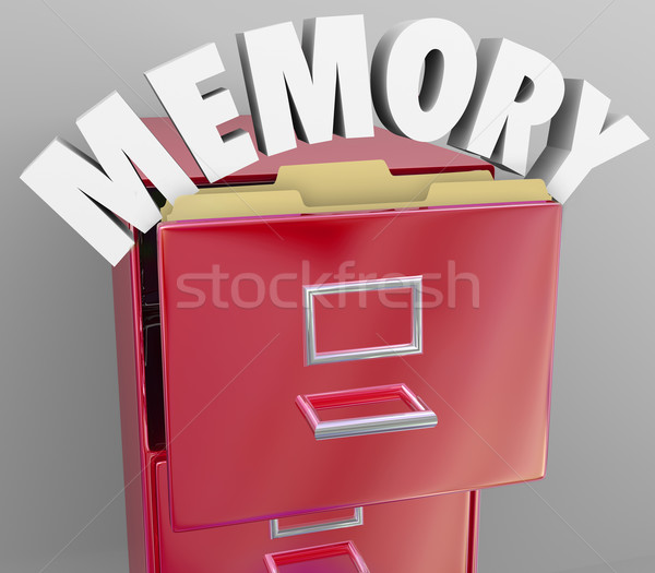 Memory Recalling Retrieving Remember File Cabinet Stock photo © iqoncept