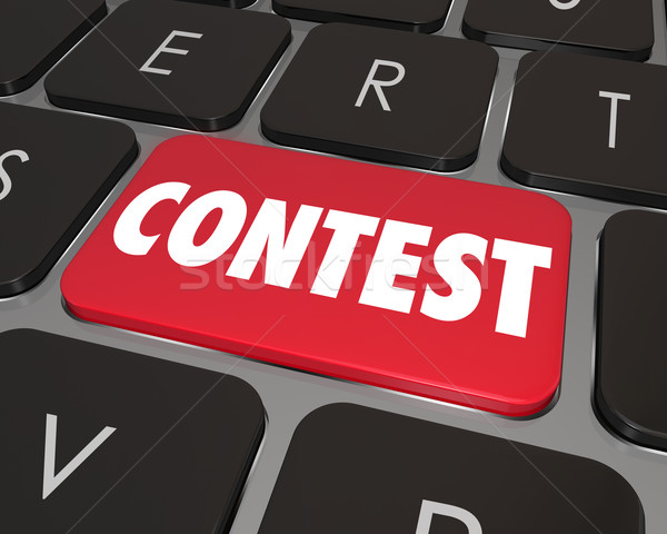 Stock photo: Contest Computer Key Button Enter Jackpot Prize Drawing Online