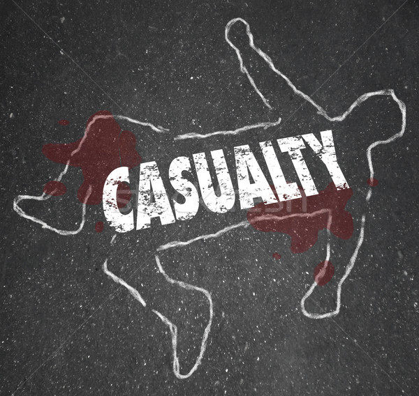 Tebeşir ceset hasar kaza kelime Stok fotoğraf © iqoncept