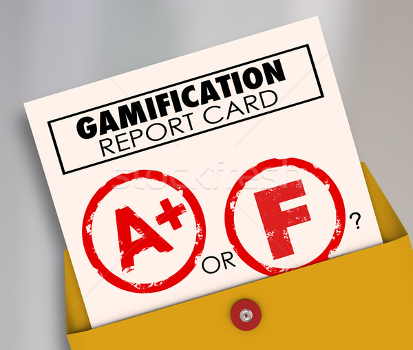 Gamification Report Card Success or Failure Results Gamify Learn Stock photo © iqoncept