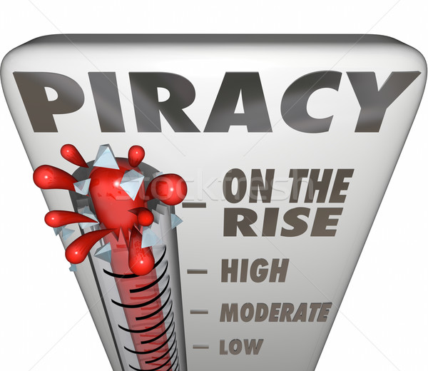 Piracy On the Rise Thermometer Measuring Illegal File Sharing Do Stock photo © iqoncept