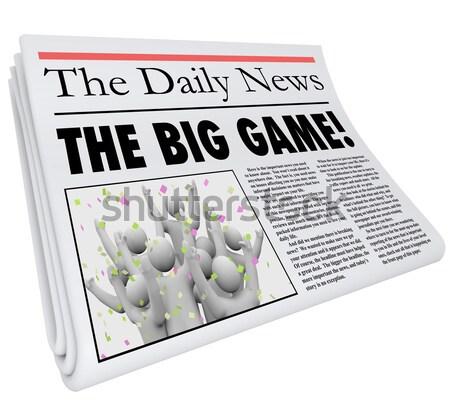 Nummers krant opschrift maandelijks woorden Stockfoto © iqoncept