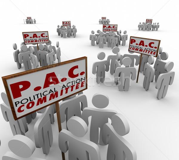 Politiek actie speciaal groepen commissie woorden Stockfoto © iqoncept