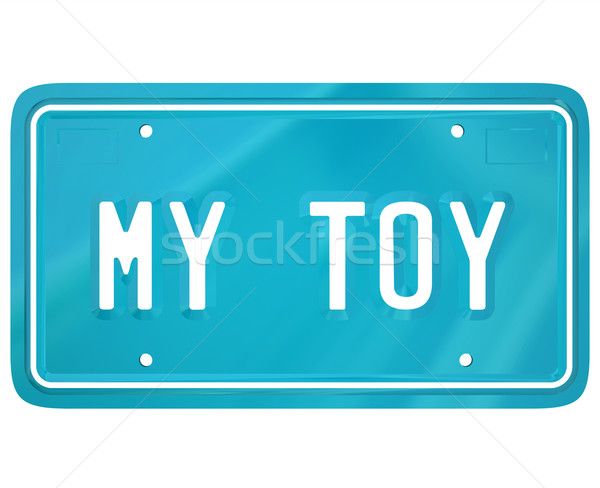 My Toy License Plate Car Collector Hobby Automobile Restoration Stock photo © iqoncept