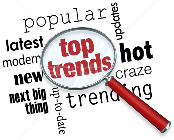 Top Trends Magnifying Glass Popular Latest Updates Next Big Thin Stock photo © iqoncept