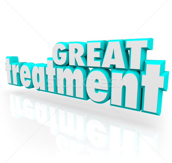 Great Treatment 3d Words Medical Therapy Help Cure Assistance Stock photo © iqoncept