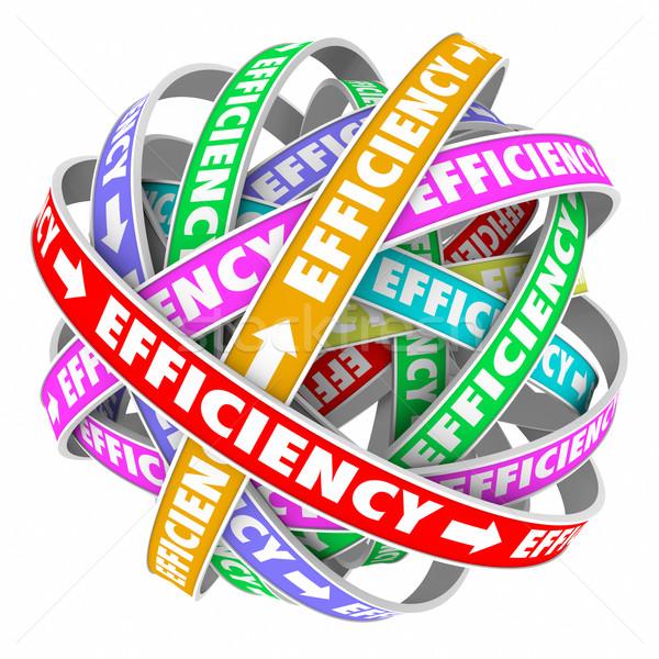 Rendement procede procedure consistent prestaties cyclus Stockfoto © iqoncept