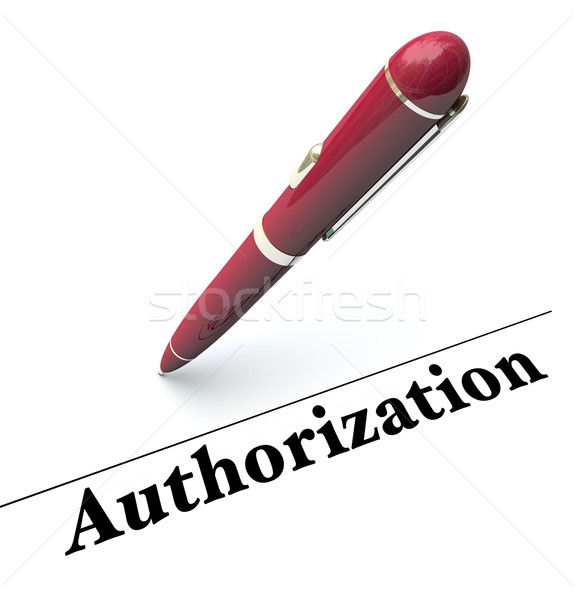 Authorization Pen Signing Approval Official Authority Agreement Stock photo © iqoncept