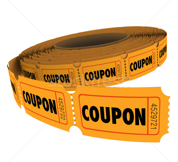 Coupons Passes Ticket Roll Vouchers for Savings Admission Reserv Stock photo © iqoncept