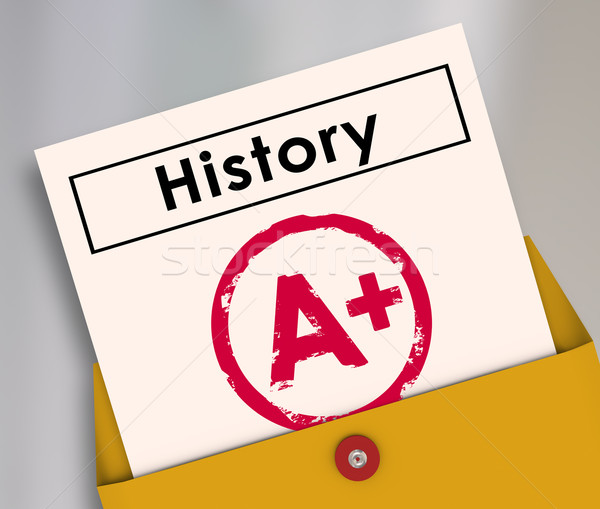 History Report Card Final Grade Test Exam Class Course Student S Stock photo © iqoncept
