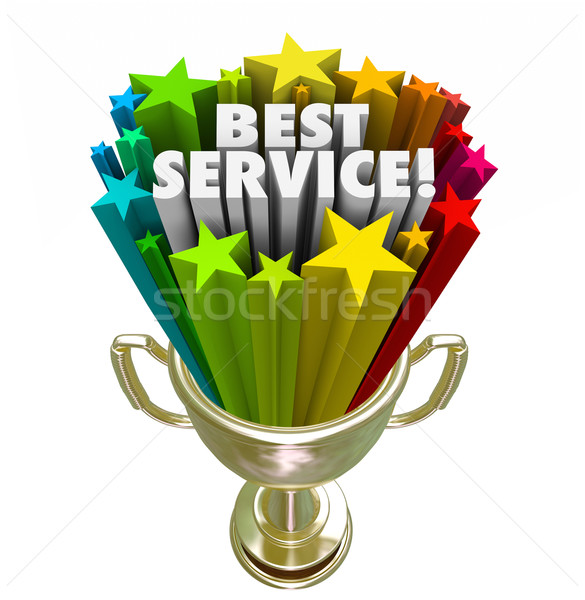 Best Service Trophy Award Prize Top Rated Company Business Stock photo © iqoncept