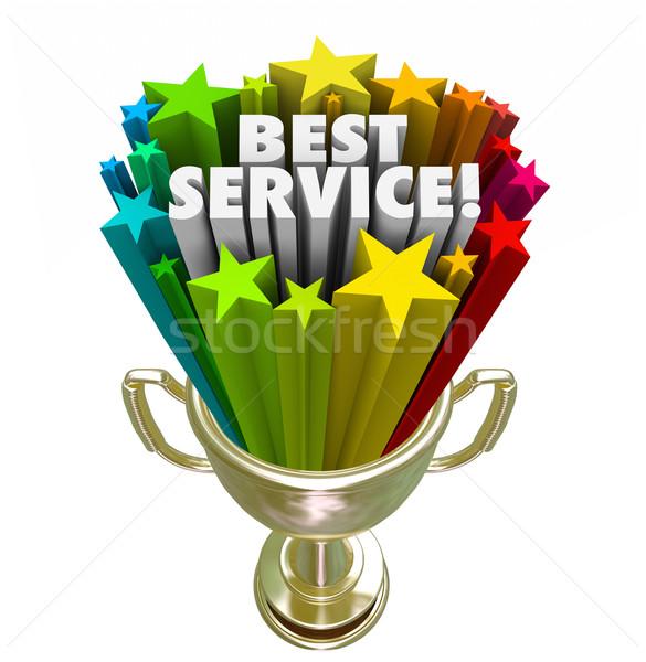 Mejor servicio trofeo adjudicación premio superior Foto stock © iqoncept