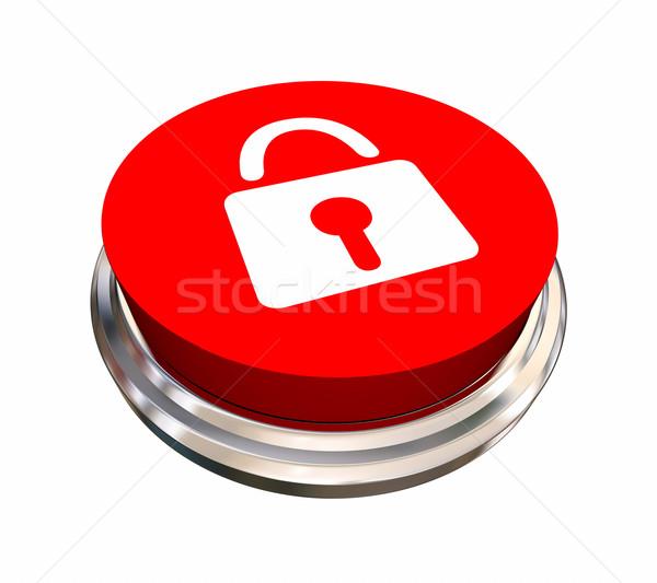 Trancar símbolo ícone segurança segurança botão Foto stock © iqoncept