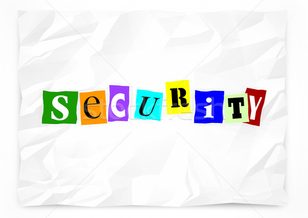 Security Ransom Note Safety Crime Prevention 3d Illustration Stock photo © iqoncept