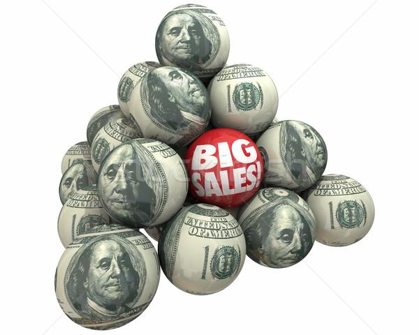 Nagy eladó növekedés elad vásárlók labda Stock fotó © iqoncept