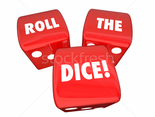 Roll the Dice Playing Game Betting Three Red Roll 3d Illustratio Stock photo © iqoncept