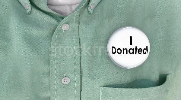 Soldi donazione pulsante pin 3D illustrazione 3d Foto d'archivio © iqoncept