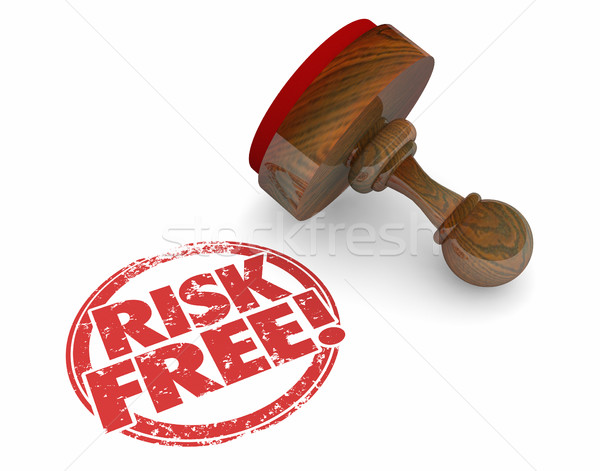 Risk Free Stamp Safe Secure Choice Words 3d Illustration Stock photo © iqoncept