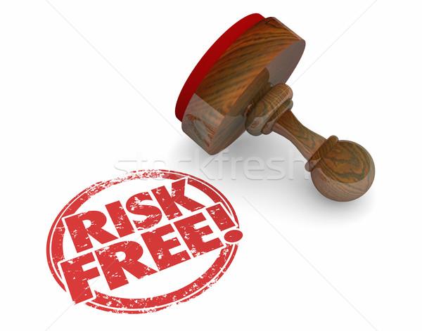 Risiko kostenlos Stempel sicher sicher Wahl Stock foto © iqoncept