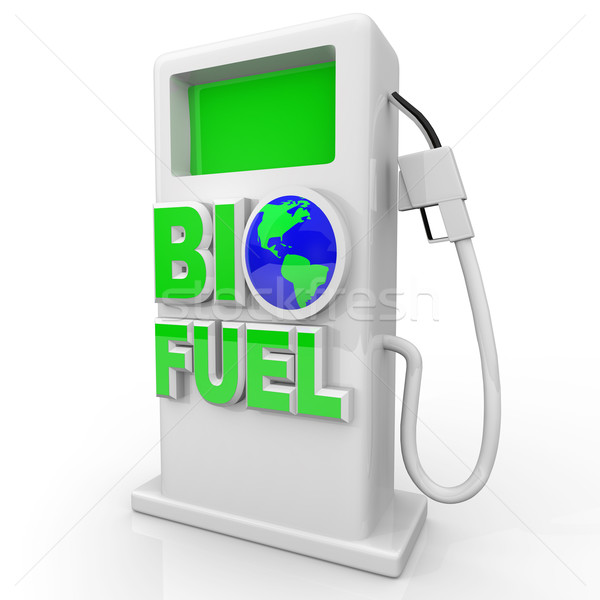 Biofuel - Green Gas Pump Station Stock photo © iqoncept