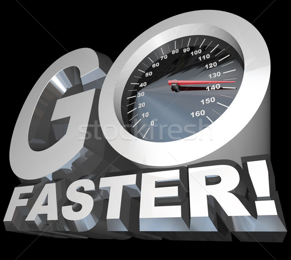 Go Faster Speedometer Racing to Successful Speed Stock photo © iqoncept