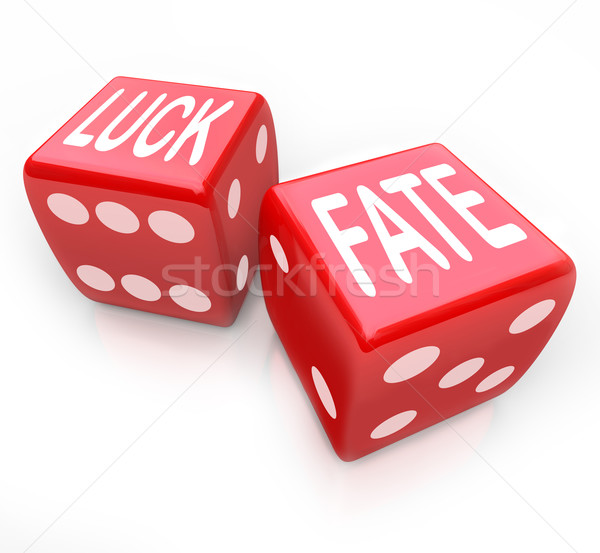 Luck and Fate - Two Red Dice Gambling Your Future Stock photo © iqoncept