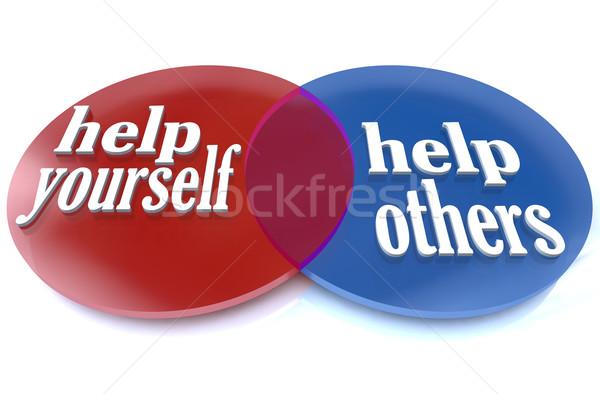 Magad diagram kettő körök előnyök konzerv Stock fotó © iqoncept
