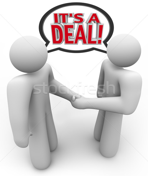 Stock photo: It's a Deal People Buyer and Seller Handshake