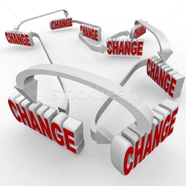 One Change Leads to Another Connected Changes Words Stock photo © iqoncept