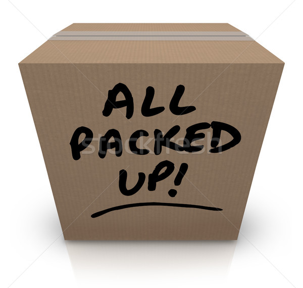 All Packed Up Cardboard Box Moving Relocation Stock photo © iqoncept