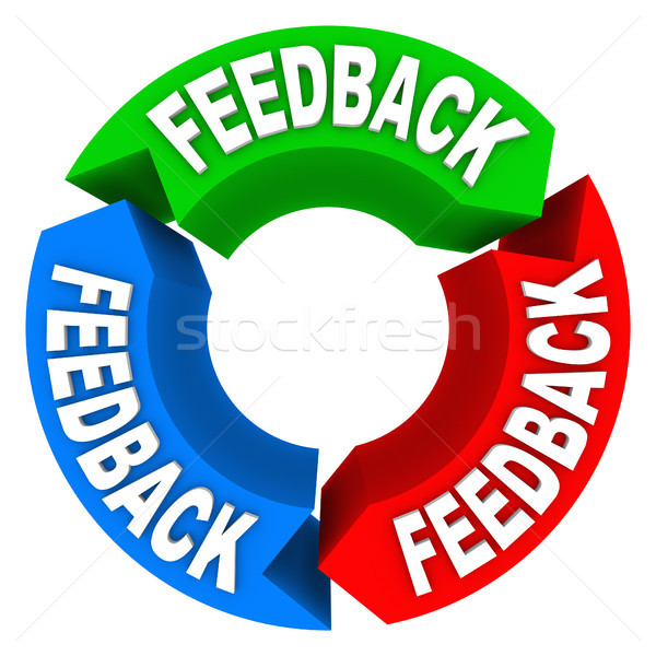 Feedback Cycle of Input Opinions Reviews Comments Stock photo © iqoncept