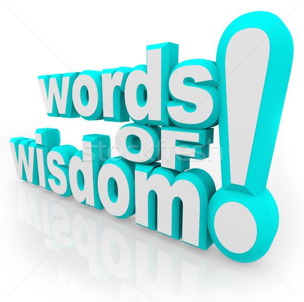 Palavras sabedoria 3D conselho informação branco Foto stock © iqoncept
