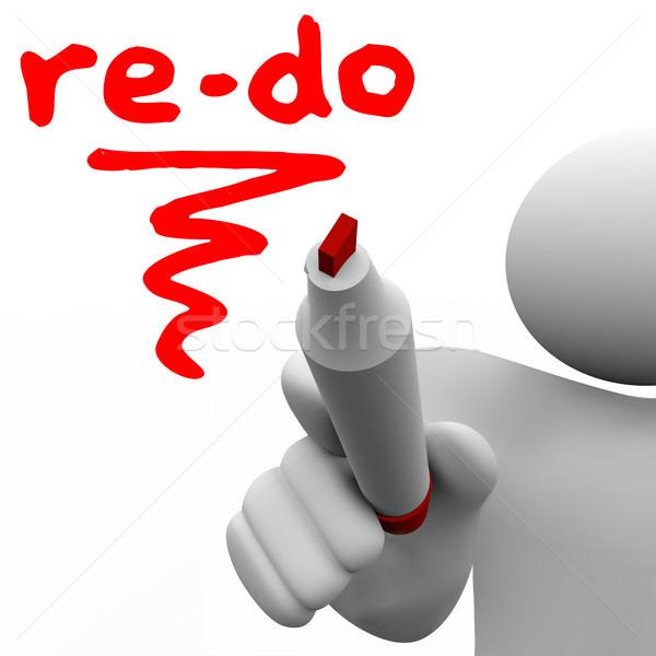Słowo napisany pokładzie znacznik człowiek zmian Zdjęcia stock © iqoncept