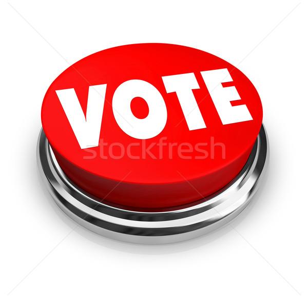 Vote - Red Button Stock photo © iqoncept