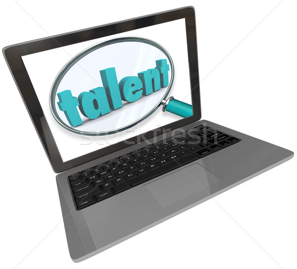 Talent Laptop Screen Online Search Skilled Unique People Stock photo © iqoncept