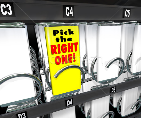 Pick the Right One Vending Snack Machine Best Product Stock photo © iqoncept