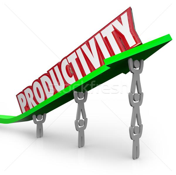 Produktivitás hatékony csapatmunka produktív emberek dolgoznak szó Stock fotó © iqoncept
