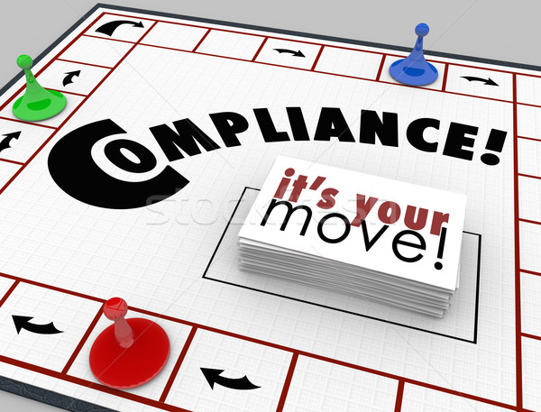 Compilance Board Game Follow Rules Regulations Laws Stock photo © iqoncept