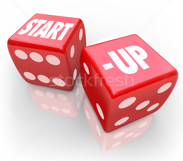 Start-Up Dice Rolling Chance Betting Future New Business Stock photo © iqoncept