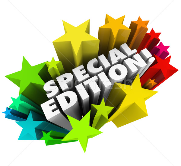 Stock photo: Special Edition Words Starburst Limited Collectors Version Issue