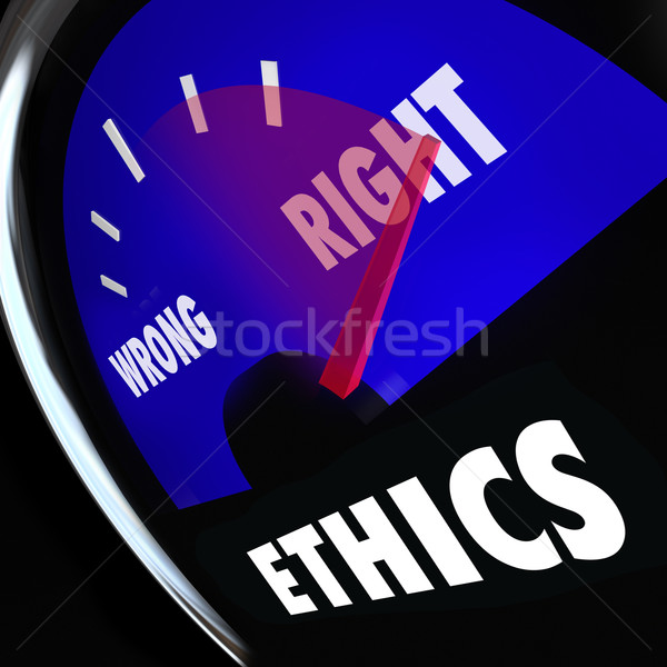 Ethics Gauge Measure Conscious Behavior Good Bad Right Wrong Stock photo © iqoncept