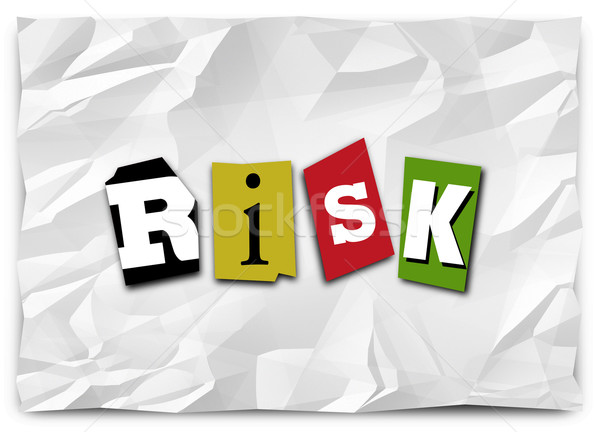 Risk Word Cut Out Letters Ransom Note Warning Security Threat  Stock photo © iqoncept