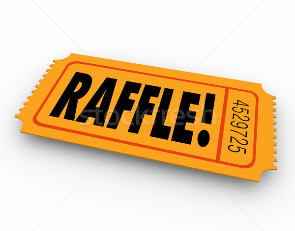 Raffle Ticket Word Enter Contest Winner Prize Drawing Stock photo © iqoncept