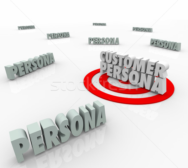 Customer Buyer Persona Character Wants Needs Marketing Story Stock photo © iqoncept