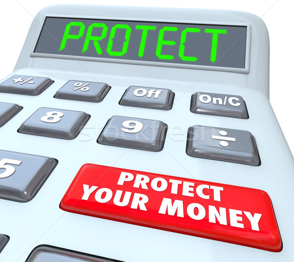 Protect Your Money Calculator Investment Tax Shelter Stock photo © iqoncept