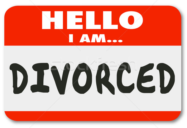 Hello I Am Divorced Separated Marriage Ended Nametag  Stock photo © iqoncept