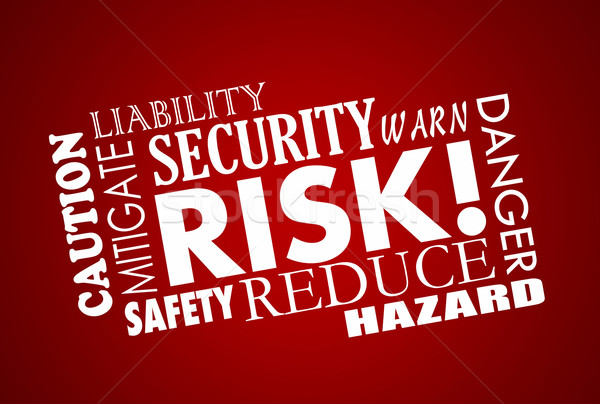 Risk Danger Safety Security Word Collage Stock photo © iqoncept